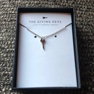The Giving Keys LET GO mini key necklace
